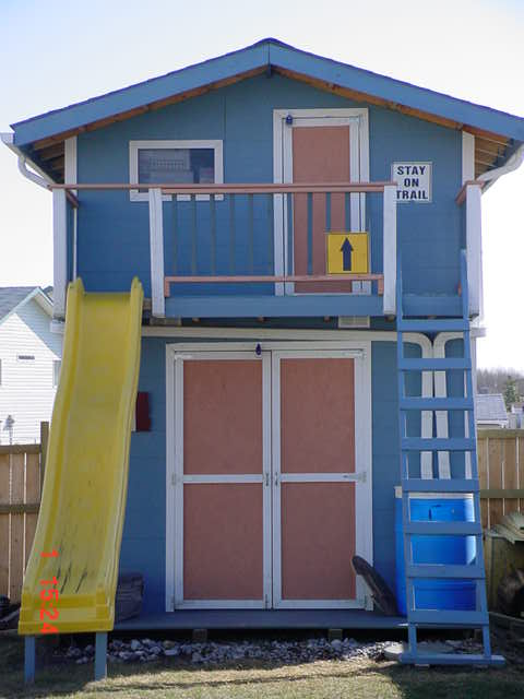 Wood shed playhouse pdf plans for Shed playhouses